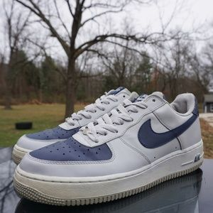 Air Force 1 Low Grey Navy Blue Size 10